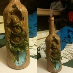 Poly Resin Turtle Smoking Incense Bottle