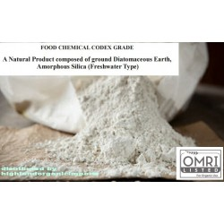 DIATOMITE Diatomaceous Earth - OMRI Listed for Organic Use - FOOD GRADE - 3oz